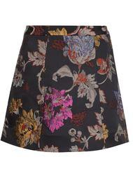 жаккардовая мини-юбка с цветочным принтом Alice+Olivia