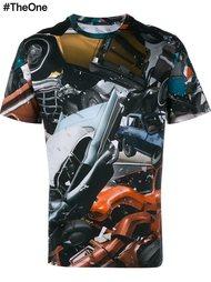 футболка с прнтом авто-аварий Christopher Kane