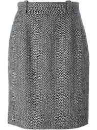 твидовая юбка-карандаш Dolce & Gabbana Vintage