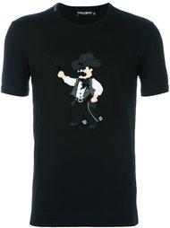 футболка с аппликацией ковбоя  Dolce & Gabbana