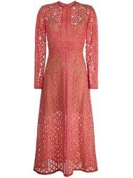 кружевной платье с длинными рукавами Elie Saab
