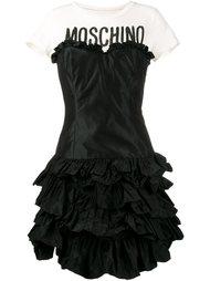 платье-футболка с оборками  Moschino