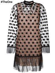 прозрачное платье с нашивками в виде звезд Nº21