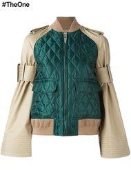 куртка-бомбер с расклешенными рукавами Sacai