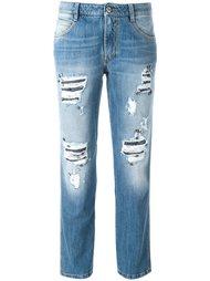 джинсы с потертой отделкой Ermanno Scervino