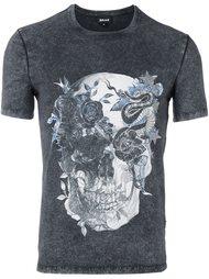 футболка с принтом черепа Just Cavalli