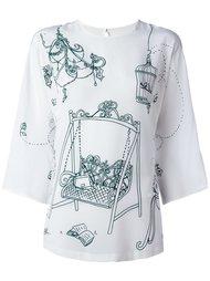 топ с графическим принтом Dolce & Gabbana