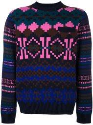 свитер с узором Sacai