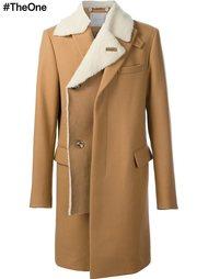 пальто с отделкой Sacai