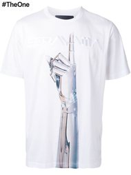 футболка с принтом руки Juun.J