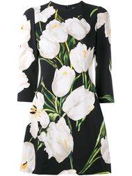платье с цветочным узором Dolce & Gabbana