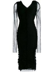 обтягивающее платье со сборками Dolce & Gabbana