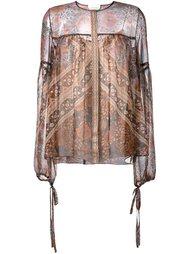 блузка с узором Chloé