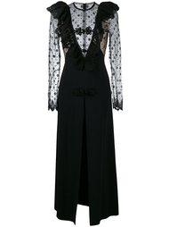 платье с кружевной вставкой  Alessandra Rich