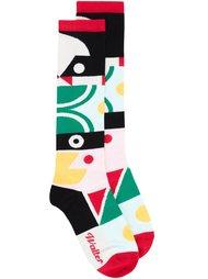 носки с геометрическим рисунком Walter Van Beirendonck
