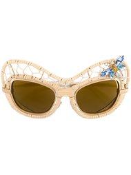 декорированные солнцезащитные очки Dolce & Gabbana