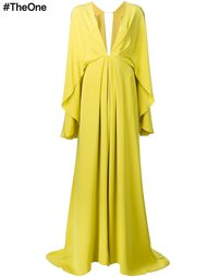 вечернее платье с драпировками Christian Siriano