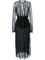кружевное платье в полоску Scanlan Theodore