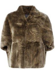 меховая куртка с рукавами три четверти Plein Sud