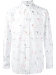 рубашка с вышивкой  Thom Browne
