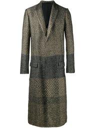 длинное жаккардовое пальто Haider Ackermann