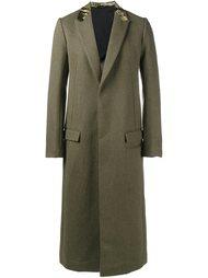 длинное пальто с бархатной отделкой Haider Ackermann
