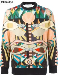 толстовка с ацтекским принтом Givenchy