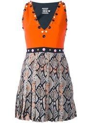 декорированное платье с эффектом змеиной кожи Fausto Puglisi