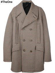 объемное твидовое пальто Raf Simons