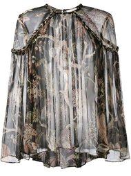 прозрачная блузка с цветочным принтом Zimmermann