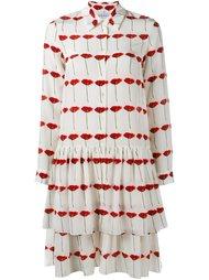 платье с принтом и складками Osman