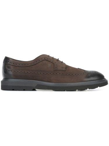 туфли броги с контрастной отделкой Tod's