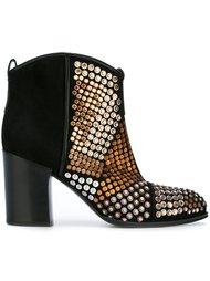 декорированные ботинки  Casadei