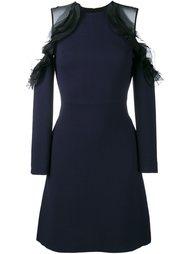 платье с открытыми плечами и рюшами Huishan Zhang