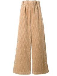 брюки-палаццо в рубчик A.W.A.K.E
