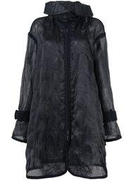 прозрачное пальто Sacai