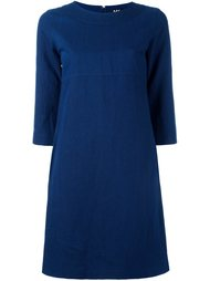 платье шифт с рукавами три четверти A.P.C.