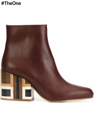 ботинки на контрастном каблуке  Gabriela Hearst