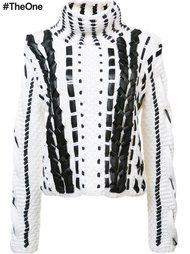 woven leather sweater Altuzarra