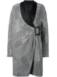 объемное пальто с драпировкой Ermanno Scervino