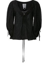блузка с V-образным вырезом и широкими рукавами Rosie Assoulin