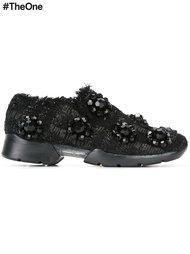 декорированные твидовые кроссовки Simone Rocha