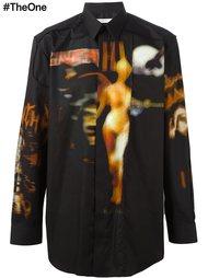 рубашка с абстрактным принтом   Givenchy