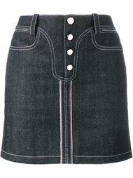 джинсовая юбка с контрастной строчкой Paco Rabanne