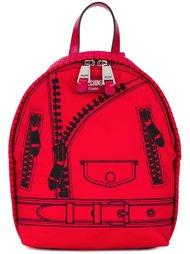 рюкзак с эффектом тромплей Moschino