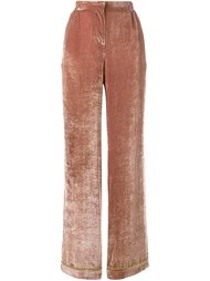 бархатные широкие брюки Alberta Ferretti