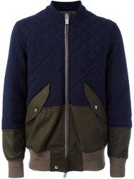 куртка-бомбер с панельным дизайном Sacai