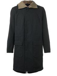back patch hooded coat Raf Simons