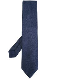 галстук с узором зигзаг Brioni