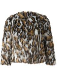 куртка из искусственного меха с леопардовым узором Moschino